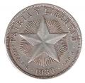 Moneda Cuba 01 Peso 1933 ESTRELLA  MBC. Ag. 0,900