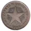 Moneda Cuba 0,40 Centavos 1920 MBC