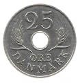 Moneda Dinamarca 025 Ore 1967 MBC