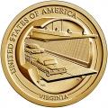 Moneda EE.UU. 1 dolar 2021 S/C. Innovacion - PUENTE CHESAPEAKE.D