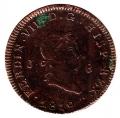 Moneda España Fernando VII 8 Maravedis Jubia 1819 BC
