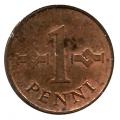 Moneda Finlandia 001 Penni 1966 MBC