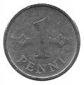 Moneda Finlandia 001 Penni 1973 MBC