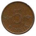 Moneda Finlandia 005 Pennia 1971 MBC