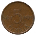 Moneda Finlandia 005 Pennia 1973 MBC