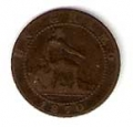 Moneda Gobierno Provisional 0,01 Céntimo peseta 1870 .BC