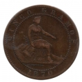 Moneda Gobierno Provisional 0,05 Céntimos peseta 1870 .MBC