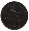 Moneda Gobierno Provisional 0,10 Céntimos peseta 1870 .MBC