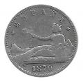 Moneda Gobierno Provisional 01 peseta 1870*--.73 (DEM).MBC-
