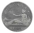 Moneda Gobierno Provisional 02 pesetas 1869 *--.-- (SNM) .MBC