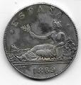 Moneda Gobierno Provisional 05 pesetas 1869 REPRODUCCION. MBC