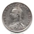 Moneda Gran Bretaña 1/2 CORONA 1890 REINA VICTORIA MBC
