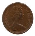 Moneda Gran Bretaña 1 NEW PENNY 1971 REINA ISABEL II EBC