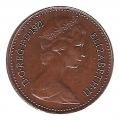 Moneda Gran Bretaña 1/2 NEW PENNY 1971 ISABEL II MBC