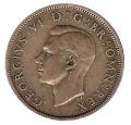 Moneda Gran Bretaña 2 SHILLINGS 1945 JORGE VI MBC