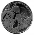 Moneda Gran Bretaña (Niue) 2 Dolar 2020. 1 Oz Ag. Star Wars