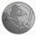 Moneda Gran Bretaña (Niue) 2 Dolar 2020. 1 Oz Ag. Darth Vader