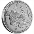 Moneda Gran Bretaña (Niue) 2 Dolar 2021. 1 Oz Ag. Halcon Mil.
