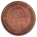 Moneda Holanda 0,01 Centimo 1969 MBC Gallo