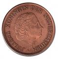 Moneda Holanda 0,01 Centimo 1971 MBC+