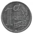 Moneda Holanda 0,01 Centimo 1942 MBC Oc. Alemana