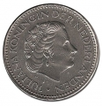 Moneda Holanda - Antillas 1 Gulden 1964 Pez EBC