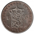 Moneda Holanda - Antillas 1 Gulden 1952 MBC