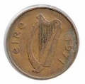 Moneda Irlanda 02 Pence (peniques) 1975 MBC