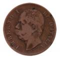 Moneda Italia 0,10 centimo Lira 1893 BI MBC