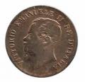 Moneda Italia 0,05 centimo Lira 1861 M RC
