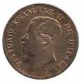 Moneda Italia 0,05 centimo Lira 1862 N RC
