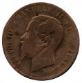 Moneda Italia 0,10 centimo Lira 1863 BC