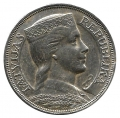 Moneda Letonia 05  Lati 1929 MBC+. Ag. 0,835