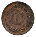 Moneda México 0,01 Centavo 1945 MBC-