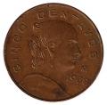 Moneda México 0,05 Centavos 1963. MBC