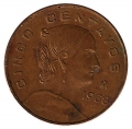 Moneda México 0,05 Centavos 1975. S/C