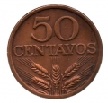Moneda Portugal  0,50 centavos 1973 . EBC