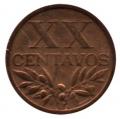 Moneda Portugal  0,20 centavos 1944. MBC