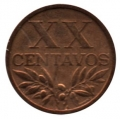 Moneda Portugal  0,20 centavos 1965. EBC