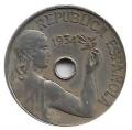 Moneda República 0,25 céntimos peseta 1934. MBC