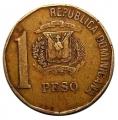 Moneda República Dominicana 0001  Peso 1992 MBC-
