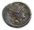 Moneda Romana Caius Fundanius  (101 A.C.) DENARIO PLATA MBC