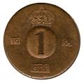 Moneda Suecia 00001 Ore 1966 MBC