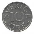 Moneda Suecia 00010 Ore 1981 MBC
