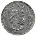 Moneda Uruguay 010 Pesos 1961. S/C