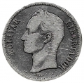 Moneda Venezuela 005 bolívares 1905 MBC