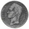 Moneda Venezuela 005 bolívares 1902 MBC