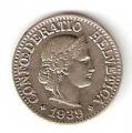Moneda de Suiza 000010 rappen 1959. EBC