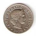 Moneda de Suiza 000010 rappen 1967. EBC