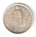 Moneda de Suiza 1 franco 1968. SC . CECA B